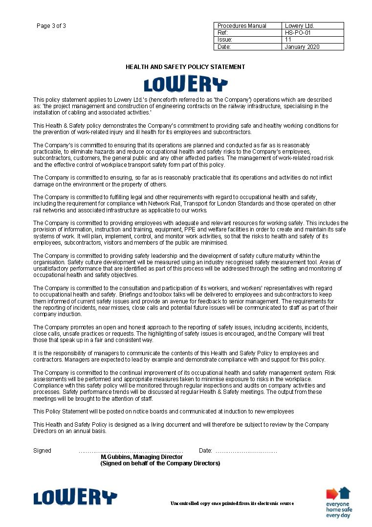 HSQE | Lowery Limited